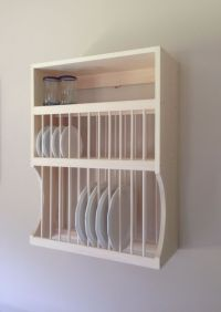 12 Large, 12 Small Plate Rack With Shelf