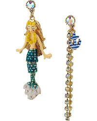 Betsey Johnson mermaid earrings | My Style | Pinterest