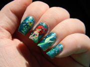 little mermaid nails #disney