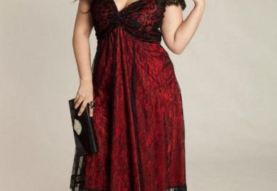 Rachelle Plus Size Lace Dress In Onyx Igigi