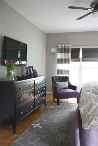 Grey and purple bedroom. | Decorating ideas | Pinterest