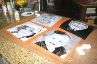 Decorating with portraits, wood, & mod podge