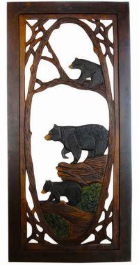 Rustic Carved Bear Screen Door | Carving | Pinterest