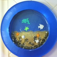 Paper plate aquarium | Magic tree house and other book ...