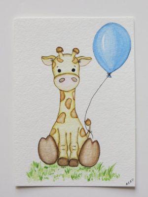 giraffe painting nursery drawings simple giraffes watercolor drawing paintings animal giraffen draw childrens boy malen elephant google zeichnen selber elefant