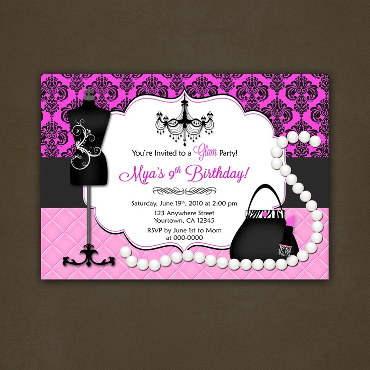 Paris Bridal Shower Invitations