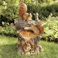 Playing Squirrels Lighted Fountain | squirrel | Pinterest