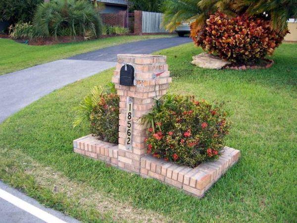 unique brick mailbox design