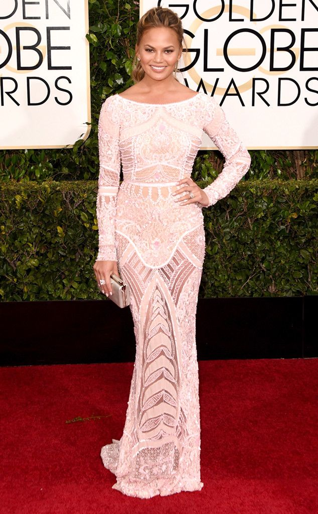 Chrissy Teigen from 2015 Golden Globes Red Carpet Arrivals | E! Online