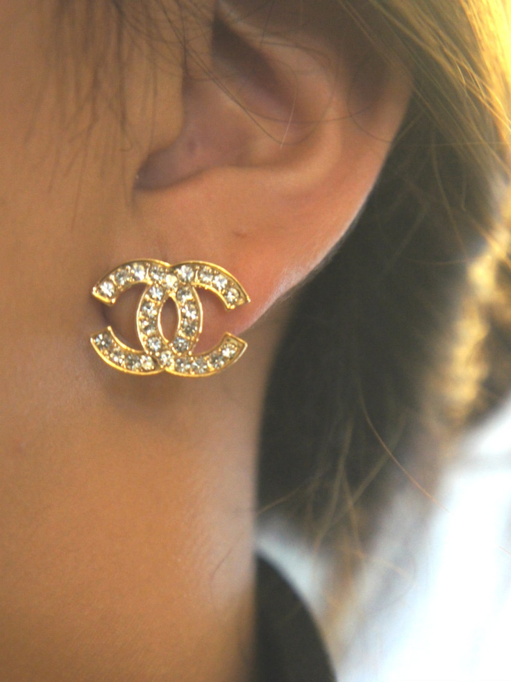 Studded chanel inspired earrings
