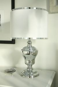 silver lamp | For the Home | Pinterest