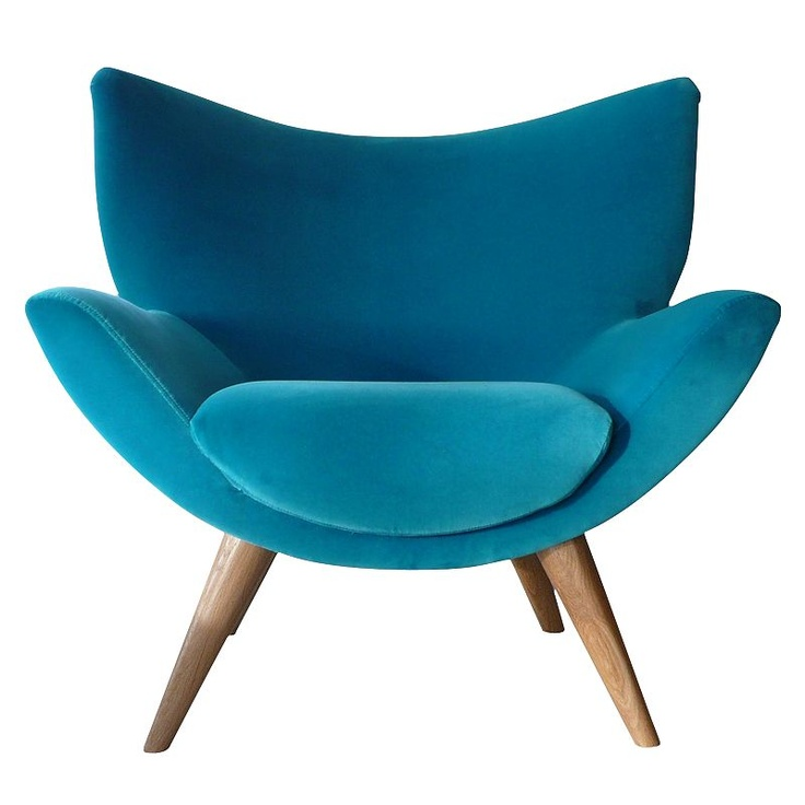 gorgeous turquoise velvet Lewis chair  Chairs  Pinterest