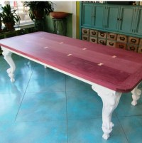 Purple heart wood coffee table