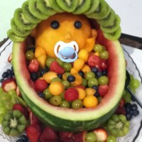 Baby Shower Fruit Bowl!!!   Food Ideas   Pinterest