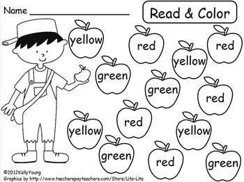 Johnny Appleseed Read & Color, Roll & Cover