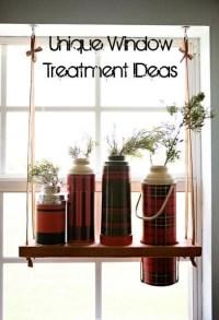 Unique DIY Window Treatment Ideas- LOVE!   For the kitchen ...
