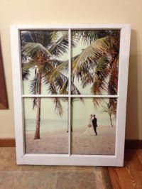 vintage window pane picture frame for wedding photo, 24x36 ...