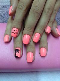 Tropical nails!!!!! | My creations... Nail art | Pinterest