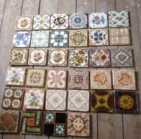 Assorted Victorian fireplace/hearth tiles | Living room ...