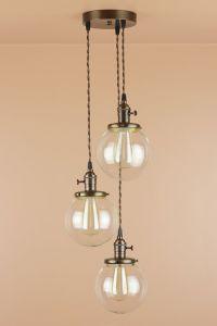 3 Light Chandelier - Cascading Pendant Lights - Lighting ...