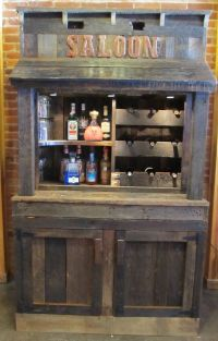 Old Barn Wood Liquor Wine Cabinet Hutch