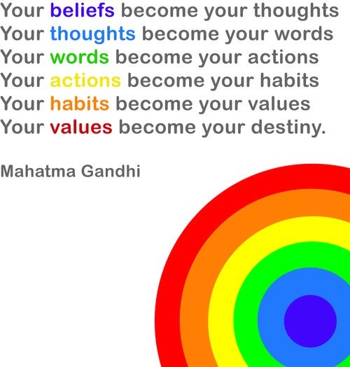 Image result for mastery habits words values destiny quote