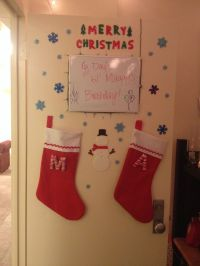 When life gives you lemons: Christmas Dorm Door Decorating