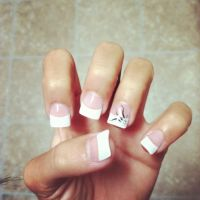 Acrylic White Tip Nail Designs | HOME DECORATION LIVE