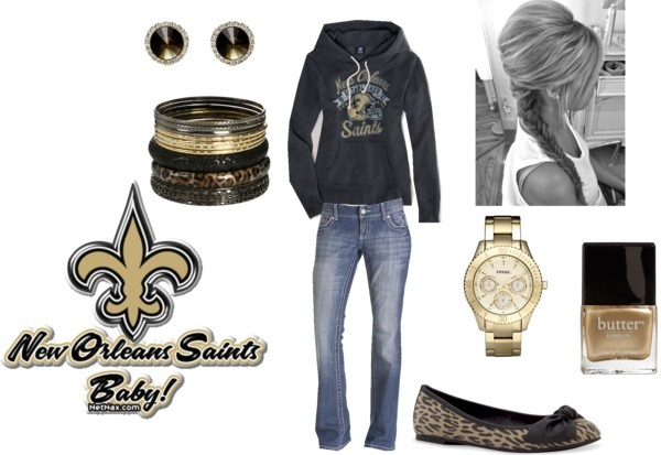 """My Saints Outfit!"" by meghan-matthews on Polyvore"