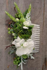 Hair comb | wedding boutonnieres | Pinterest