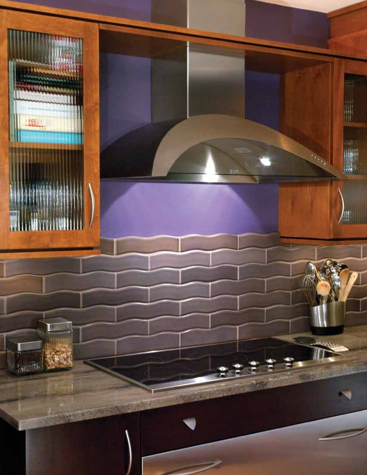 Purple kitchen wtile  Home decorating  Pinterest