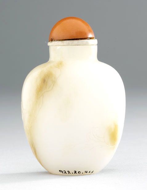 Jade snuff bottle 1750 - 1900 AD Qing Dynasty China; Asia
