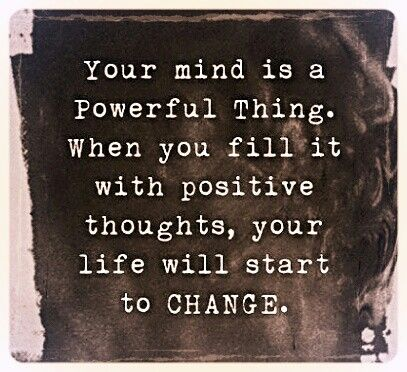 positive thoughts !!!