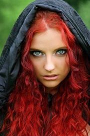bright red hair emerald eyes