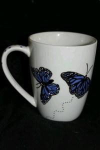 Hand painted butterfly mug | Coffee  Mugs | Pinterest