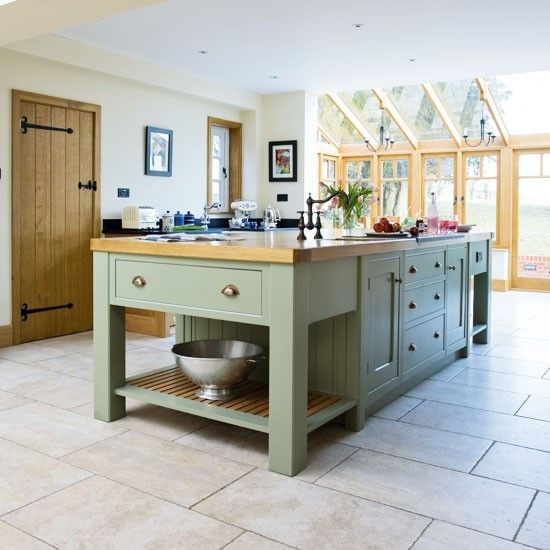 Country Kitchen Islands