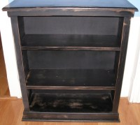 Bookcase, black distressed, shabby chic.   For the Home ...