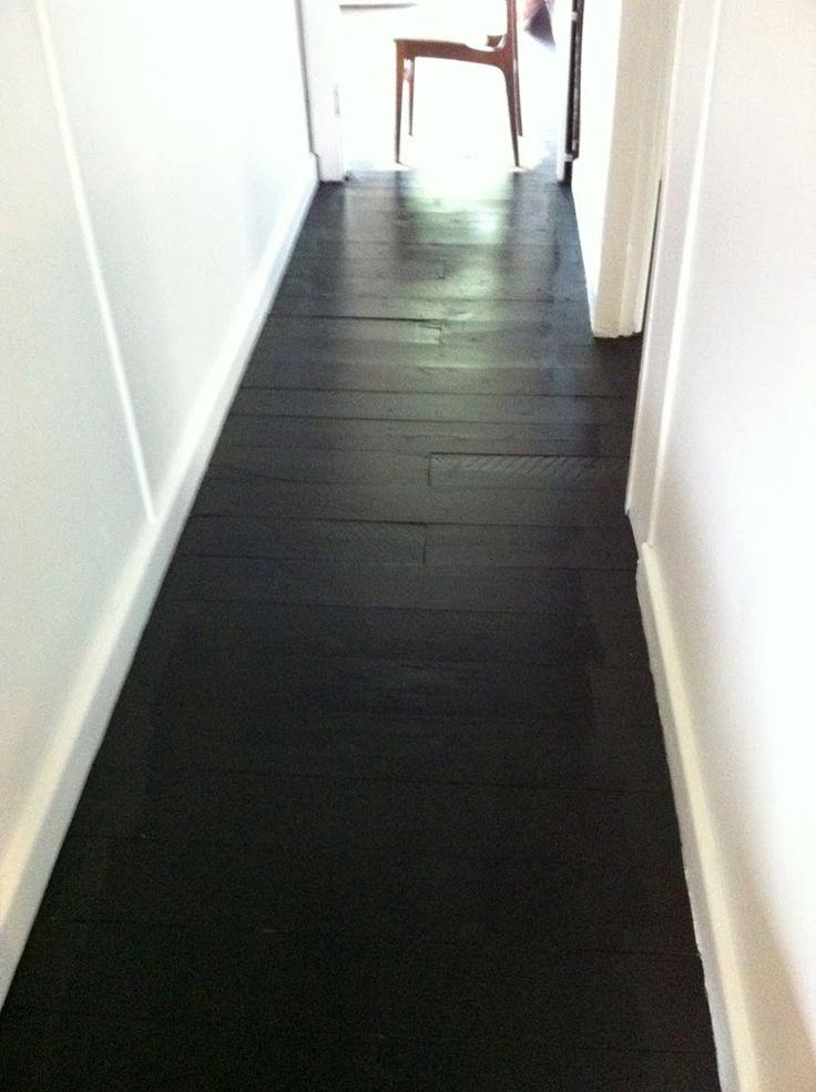painted black floors