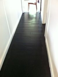 painted black floors