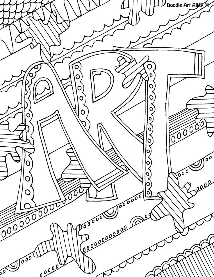 School Subject Notebook Covers Coloring Pages Sketch