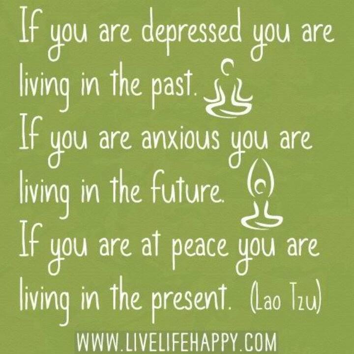 Finding inner peace.