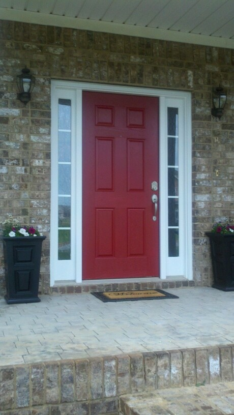 My front door..Lowes Front Door Red | Outside decorating ...