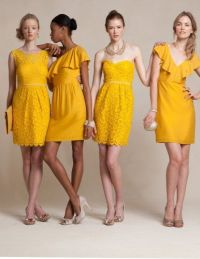Mustard yellow bridesmaid dresses | Looking Glass | Pinterest