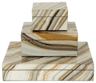 Laquered Agate Boxes