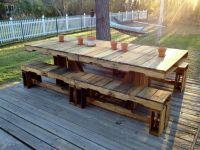 Pallet Patio Table | Home Improvement | Pinterest
