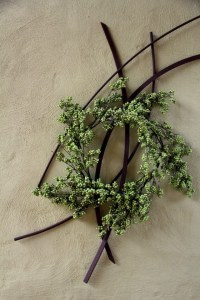 a non-traditional holiday wreath | homes | decor | Pinterest
