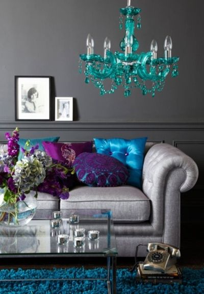 purple and silver living room ideas purple teal and silver living room. | Decor | Pinterest