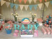 Baby Shower Unknown Gender Pink / Blue | Baby shower ideas ...