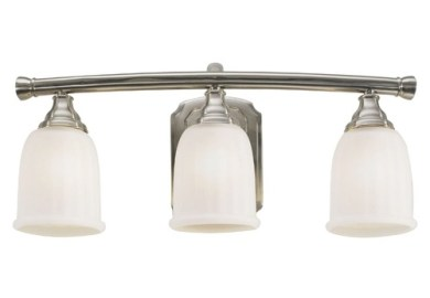Allen Roth 3 Light Brushed Nickel Bathroom Vanity Light