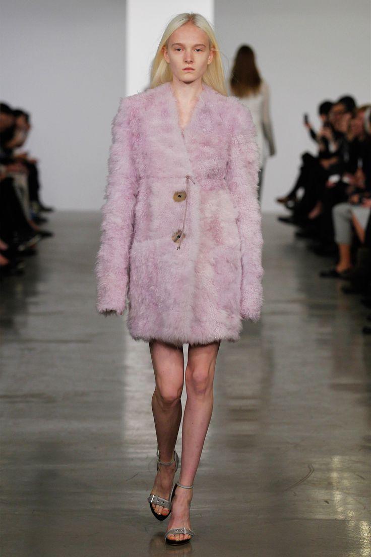 Calvin Klein Pre-Fall 2014 - Pre-fall 2014 Trends - Pink Coats - Fur